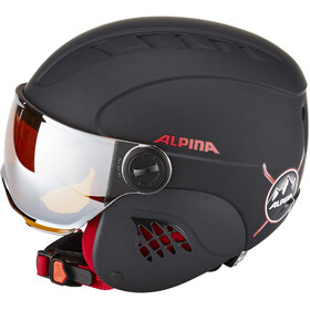 Alpina Carat LE Visor HM Helm Kinderen, black-red matt